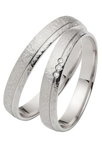 Firetti Trauring mit Gravur »Hammerschlag, Diamantschnitt, 3,5 mm breit«, Made in... kaufen