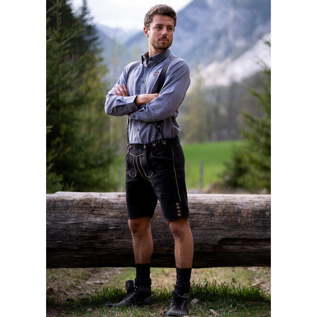 "Andreas Gabalier Kollektion Trachtenhemd, Herren mit ""Mountainman"" Stick"
