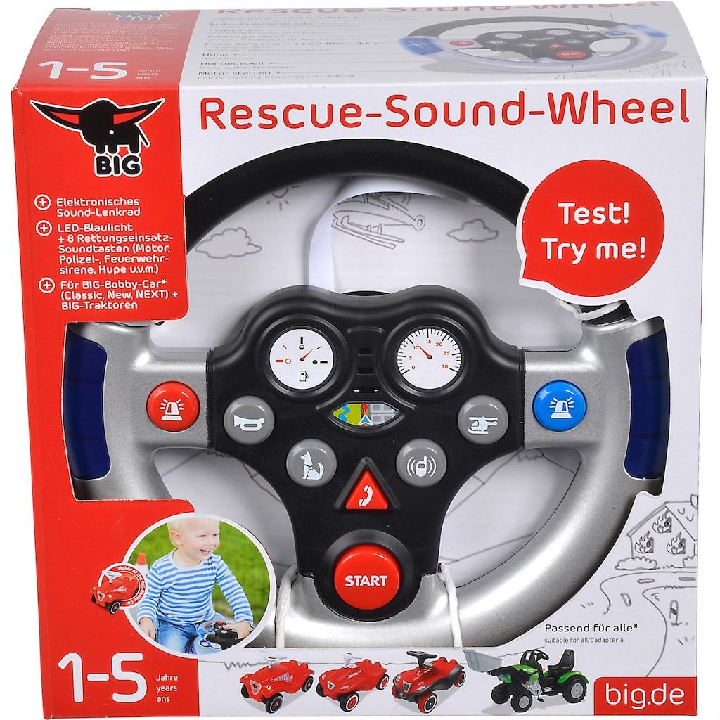 BIG Spielfahrzeug-Lenkrad »BIG Rescue Sound Wheel«, mit Licht- und Soundfunktion