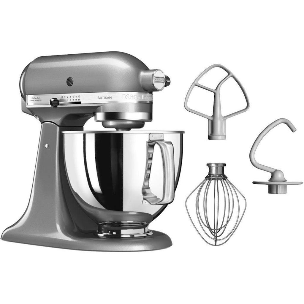 KitchenAid Küchenmaschine »Artisan 5KSM125ECU«, 300 W, 4,8 l Schüssel, Farbe: Kontur-Silber