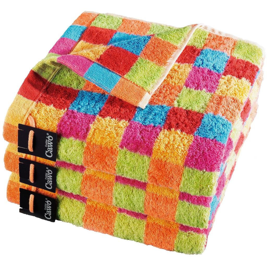 Cawö Handtücher »Lifestyle Cube«, (2 St.), mit bunten Karos