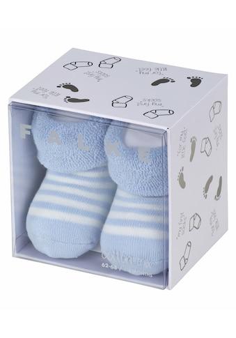 FALKE Socken »Erstlingsringel«, (1 Paar), aus kuschelweicher Baumwolle kaufen