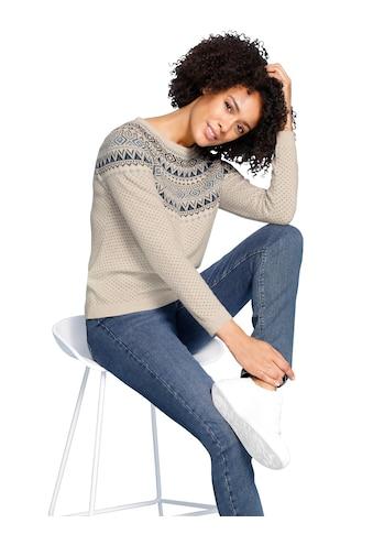 Creation L Woll - Pullover im Norweger - Stil kaufen