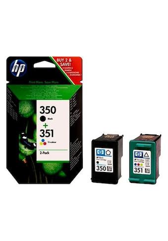 HP Tintenpatrone »hp 350 / hp 351 - SD412EE - original schwarz und dreifarbig« kaufen