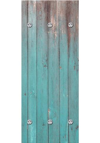 queence Garderobenpaneel »Holzbretter«, mit 6 Haken, 50 x 120 cm kaufen