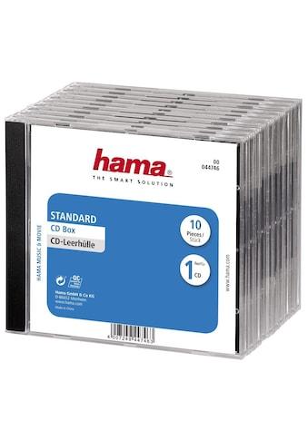 Hama CD-Leerhülle Standard, 10er-Pack, Transparent/Schwarz kaufen