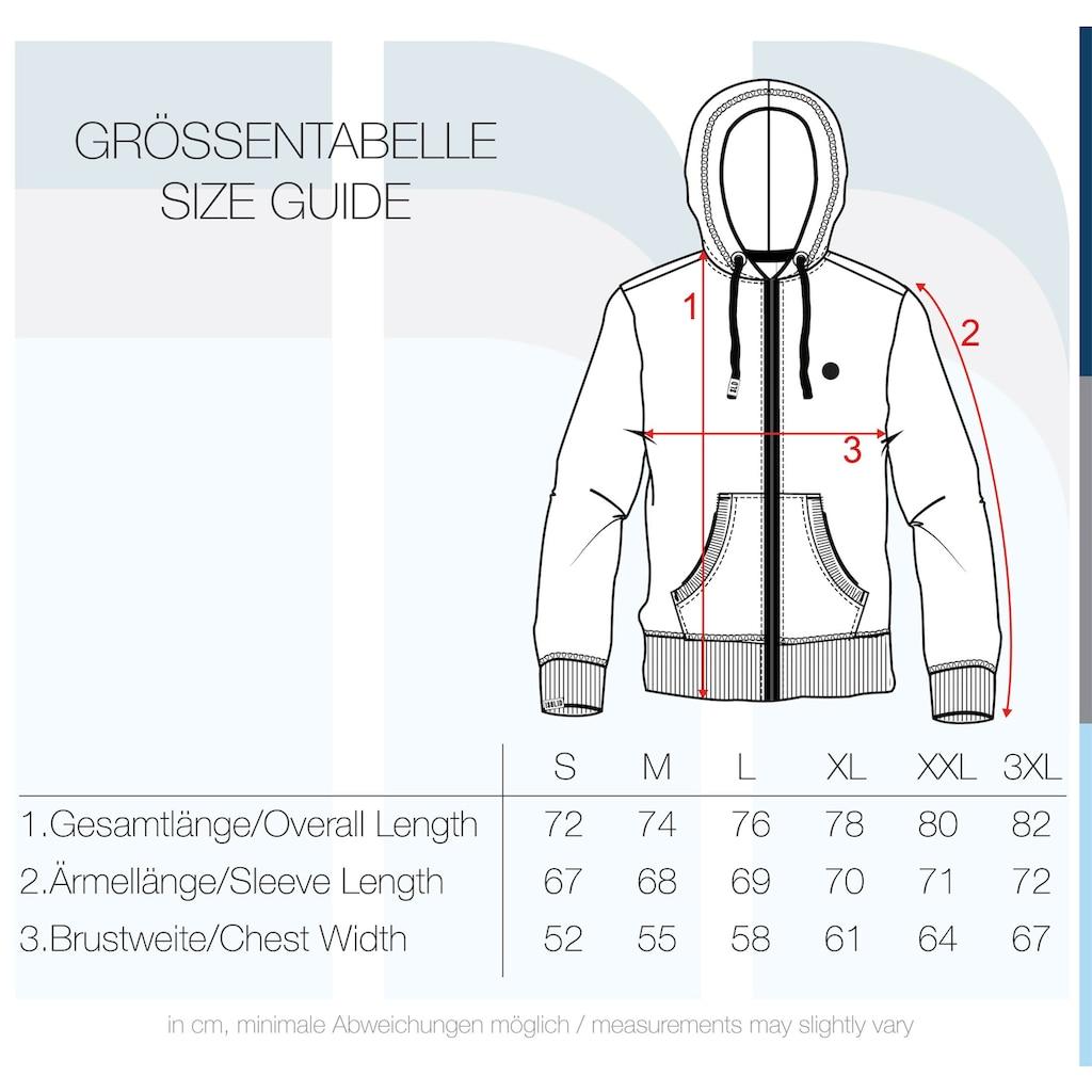 Solid Kapuzensweatjacke »Bene Zip«, Sweatshirtjacke mit weicher Fleece-Innenseite