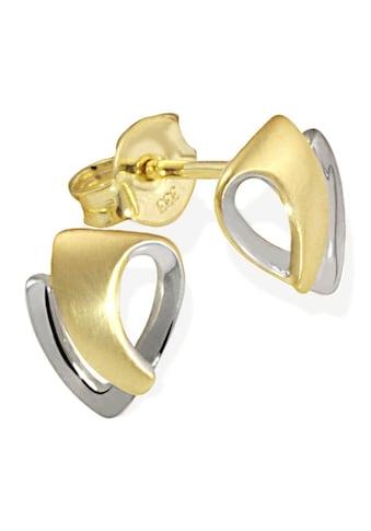 goldmaid Paar Ohrstecker, Gold 333/- Bicolor matt und hochglanzpoliert kaufen