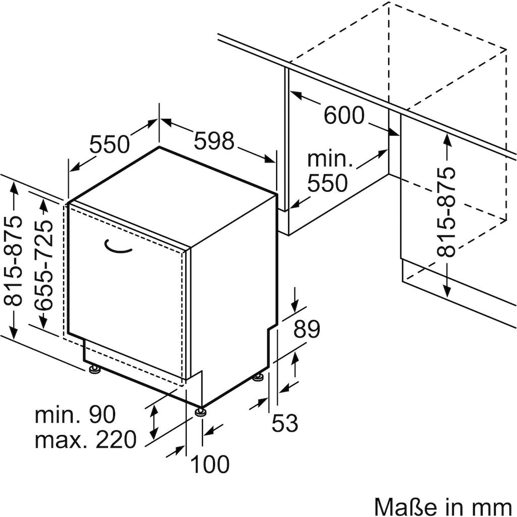 SIEMENS vollintegrierbarer Geschirrspüler »SN61IX12TE«, iQ100, SN61IX12TE, 12 Maßgedecke