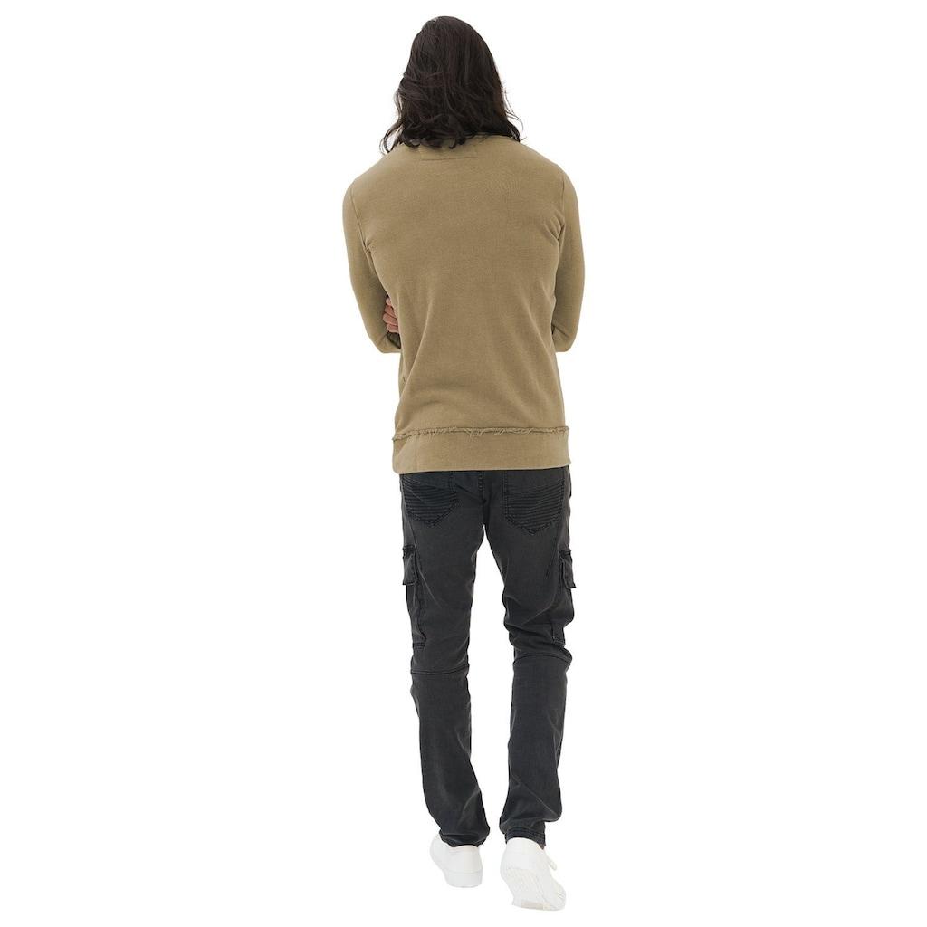trueprodigy Sweatshirt »Fray«, mit Teilungsnaht in Vintage-Optik