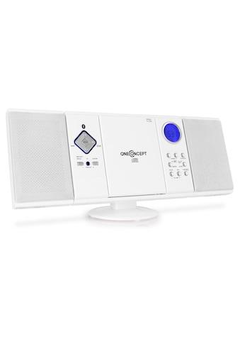 ONECONCEPT Bluetooth Stereoanlage USB SD CD MP3 AUX UKW/MW Uhr mit Wecker »V 12 BT« kaufen