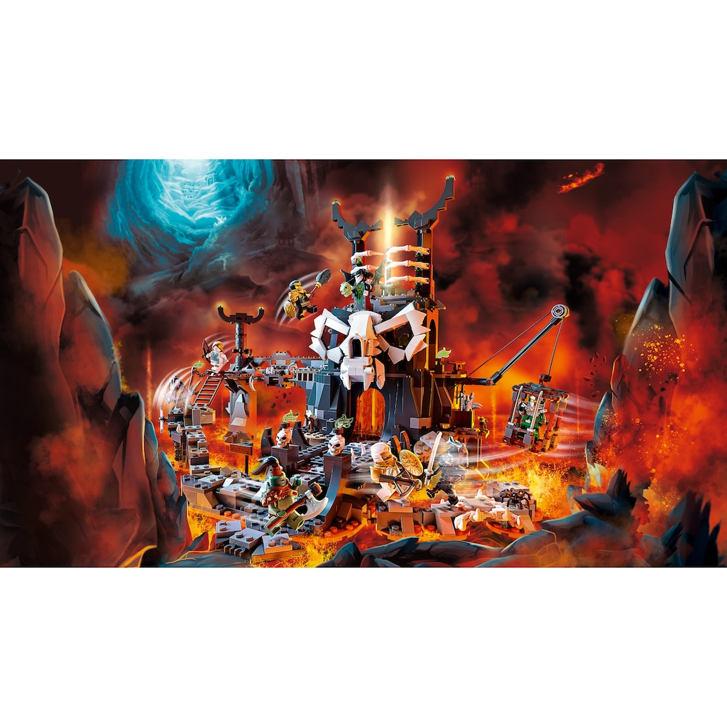 LEGO® Konstruktionsspielsteine »Verlies des Totenkopfmagiers (71722), LEGO® NINJAGO®«, (1171 St.), auch als Brettspiel verwendbar, Made in Europe