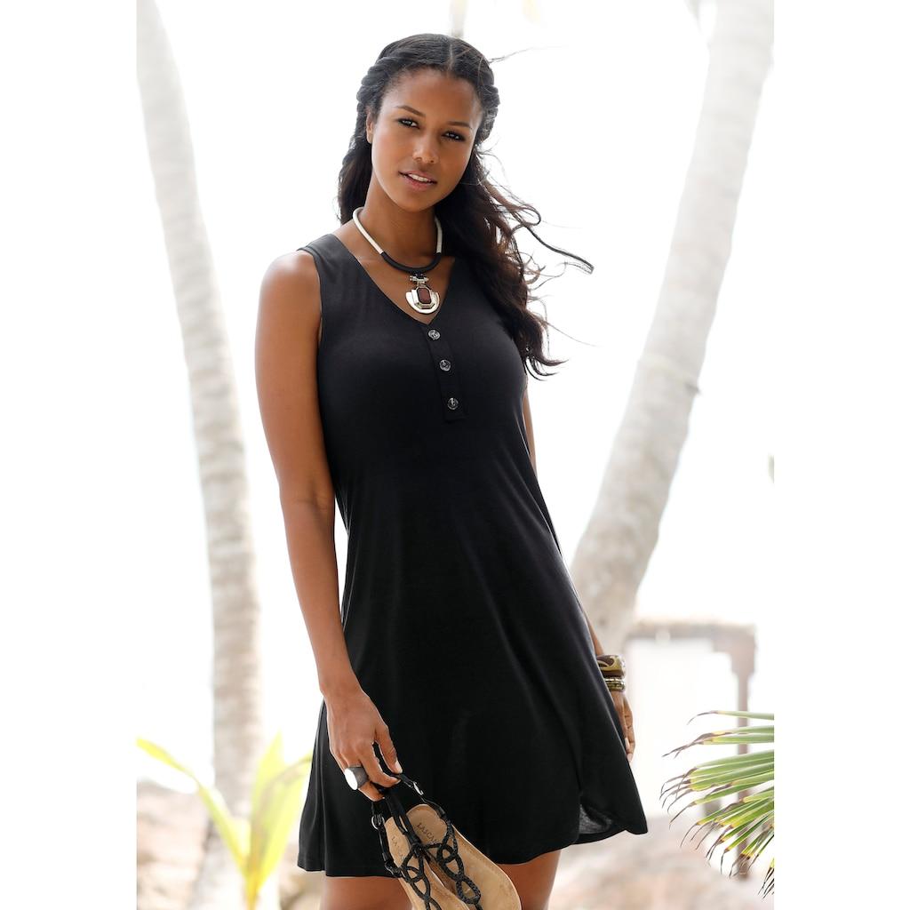 LASCANA Strandkleid, mit Zierknöpfen am Ausschnitt