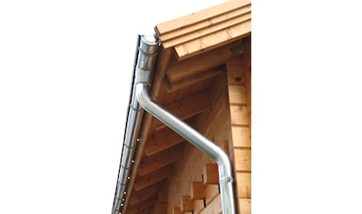 WOLFF FINNHAUS Dachrinne Alu, für Satteldach bis 400 cm kaufen