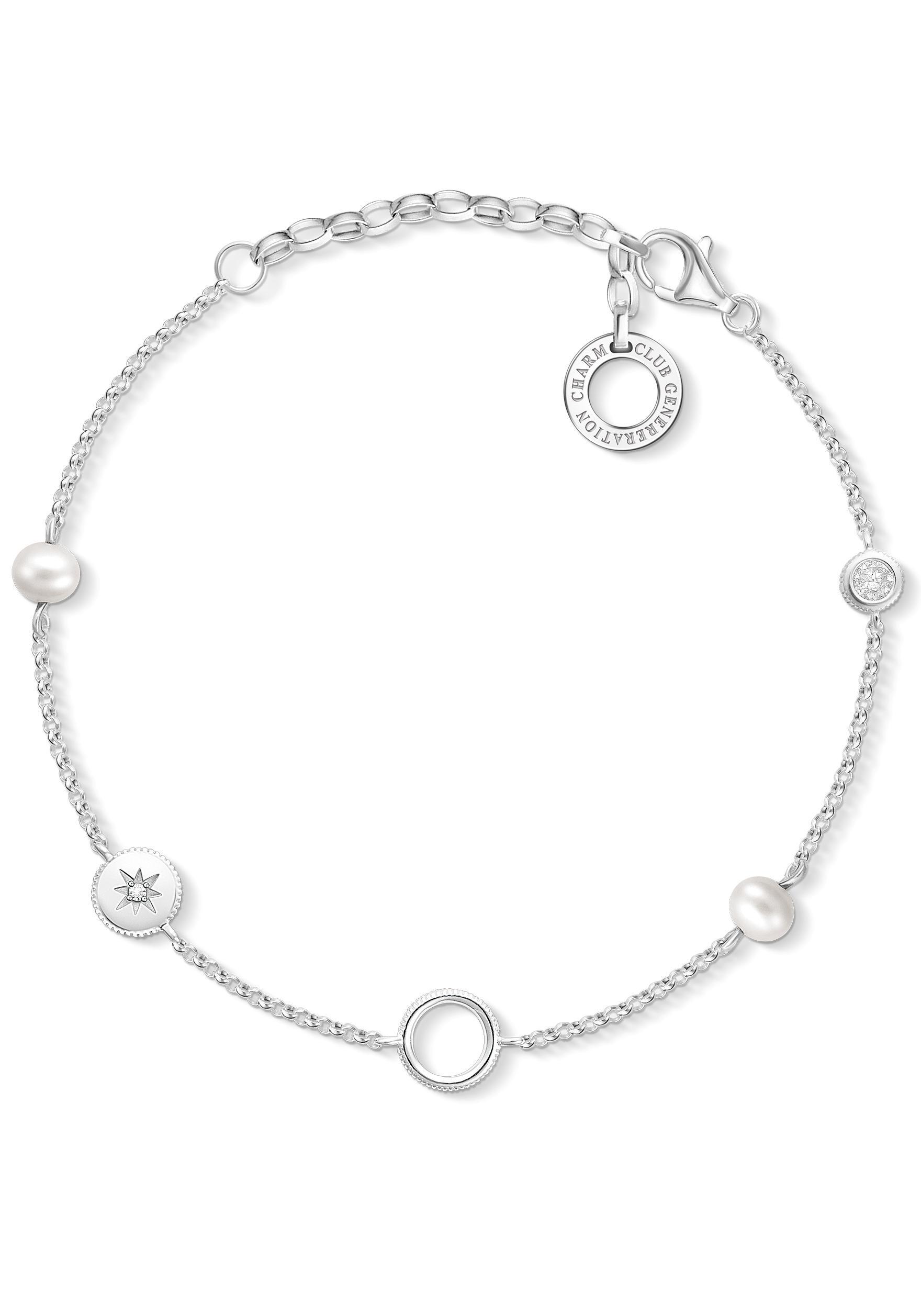 THOMAS SABO Charm-Armband »Perlen, X0273-167-14-L19v«