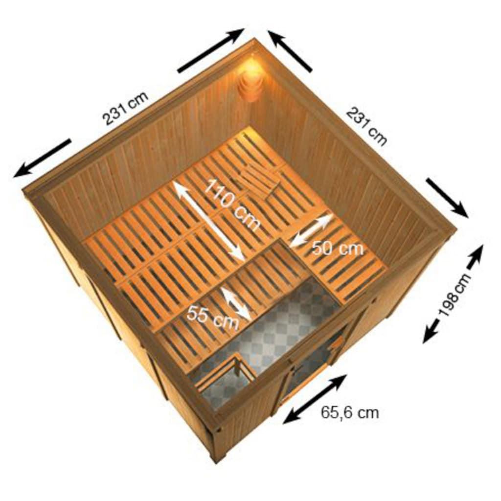 Karibu Sauna »Ferun«, ohne Ofen