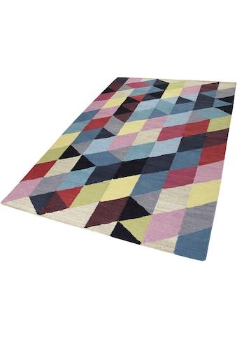 Esprit Teppich »Rainbow Triangel«, rechteckig, 5 mm Höhe, Wohnzimmer kaufen