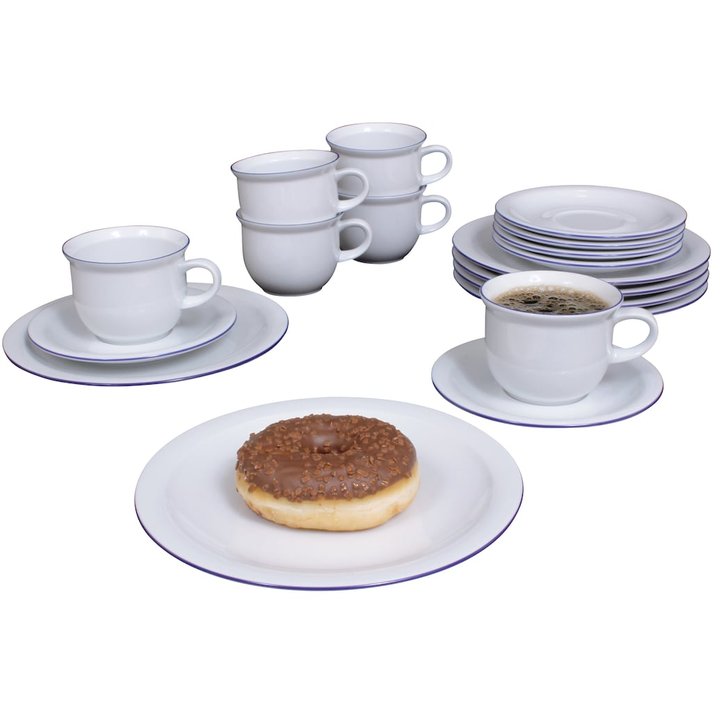 Eschenbach Kaffeeservice »Today - Westerland«, (Set, 12 tlg.), Made in Germany