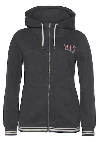 H.I.S Kapuzensweatjacke »aus zertifizierter Bio-Baumwolle«, in großen Größen kaufen