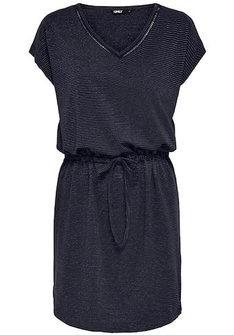 Only Shirtkleid »ONLELLEN«, mit Glitzer-Streifen kaufen