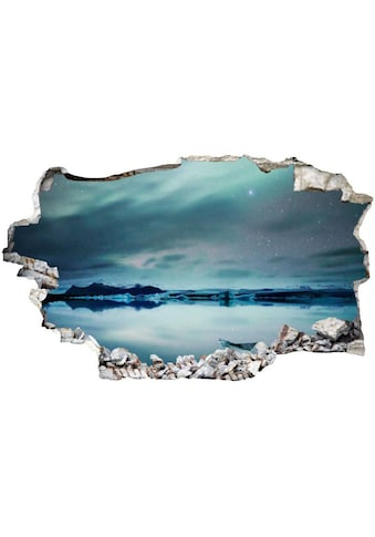 Wall-Art Wandtattoo »Polarlichter Sticker 3D Nordpol« kaufen