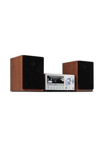 Auna Stereoanlage 80 W max. Internet/DAB+/ FM Radio CD - Player silber »Connect System« kaufen