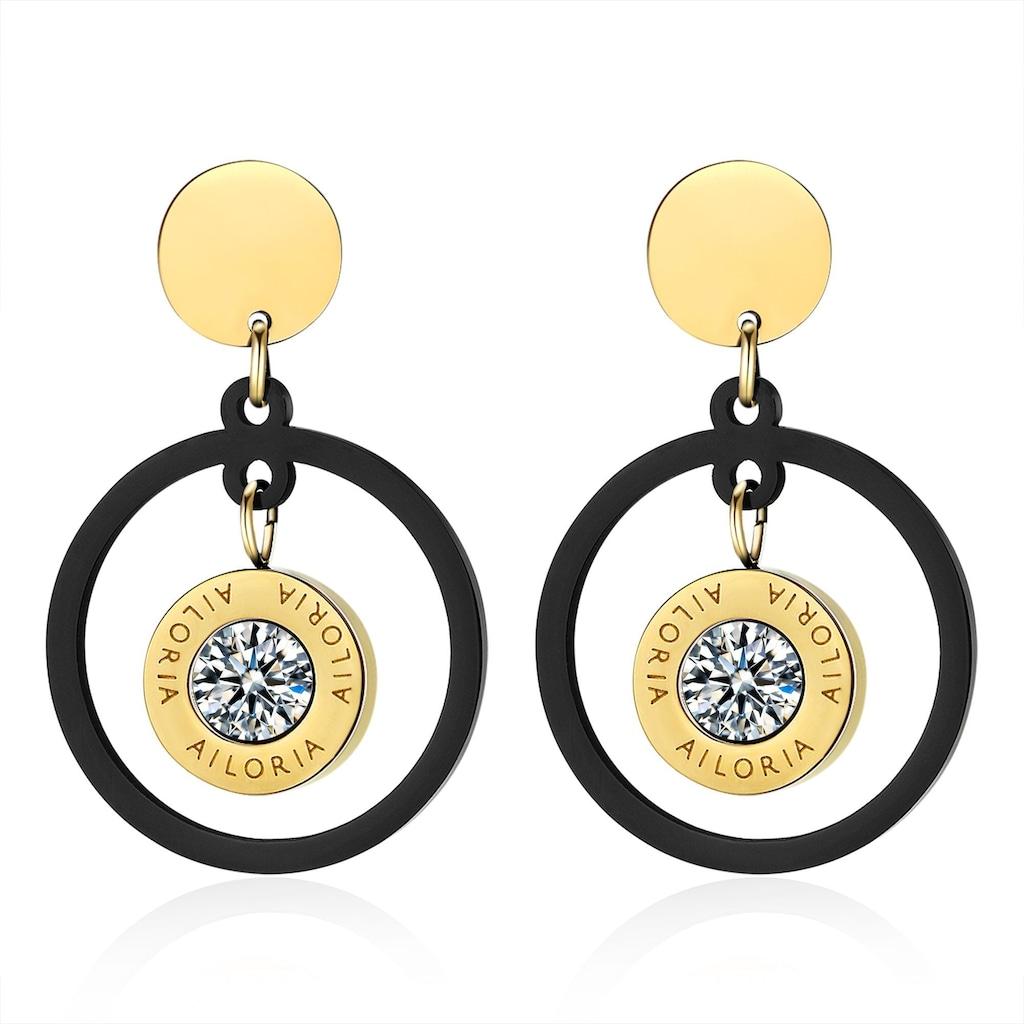 AILORIA Paar Ohrhänger »AUDREY Ohrringe«, aus glänzendem Edelstahl