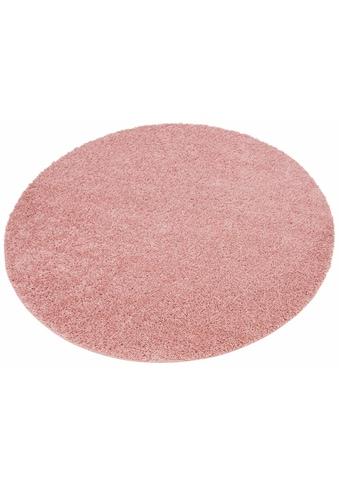Hochflor - Teppich, »Shaggy 30«, Home affaire, rund, Höhe 30 mm, maschinell gewebt kaufen