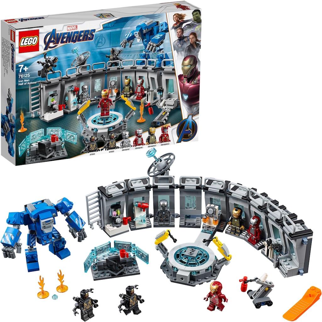 LEGO® Konstruktionsspielsteine »Iron Mans Werkstatt (76125), LEGO® Marvel Super Heroes™«, (524 St.), Made in Europe