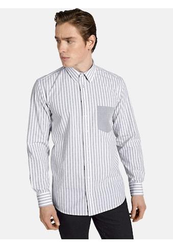 SHIRTMASTER Langarmhemd »hellosailor«, Baumwollhemd aus edlem Jacquard kaufen