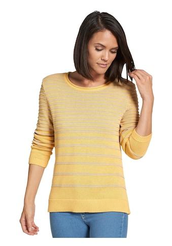 Casual Looks Pullover mit gerippten Abschlüssen kaufen