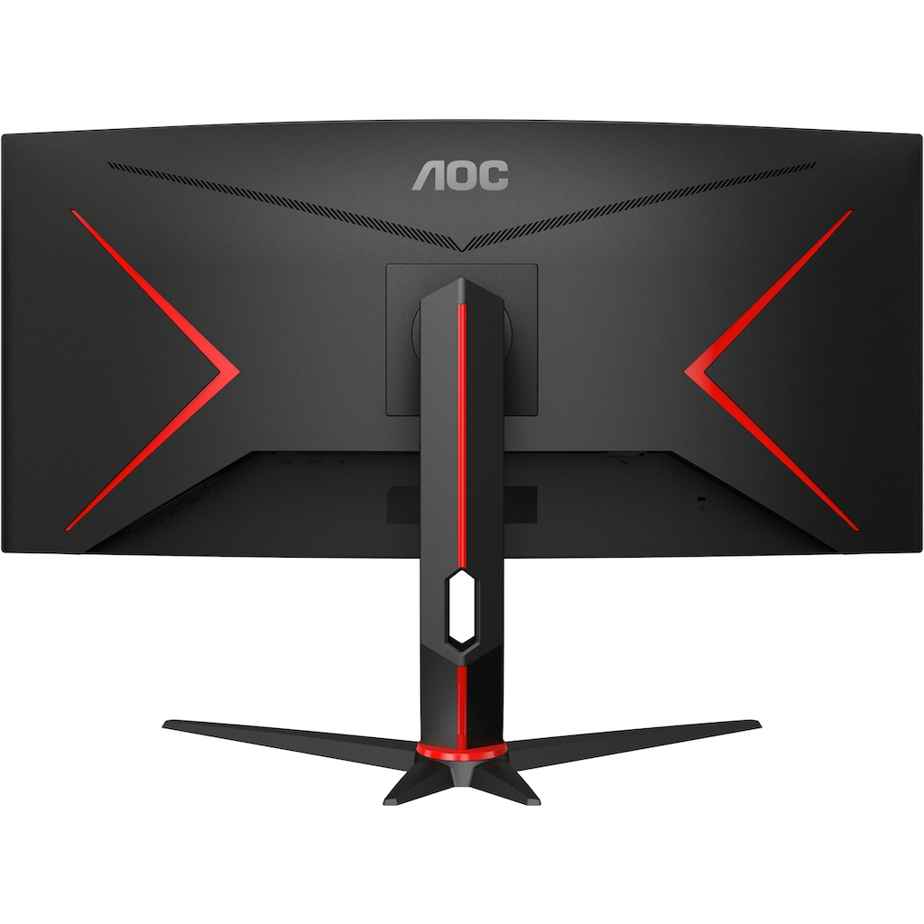 """AOC Curved-Gaming-LED-Monitor »CU34G2/BK«, 86,4 cm/34 """", 3440 x 1440 px, QHD+, 1 ms Reaktionszeit, 100 Hz"""