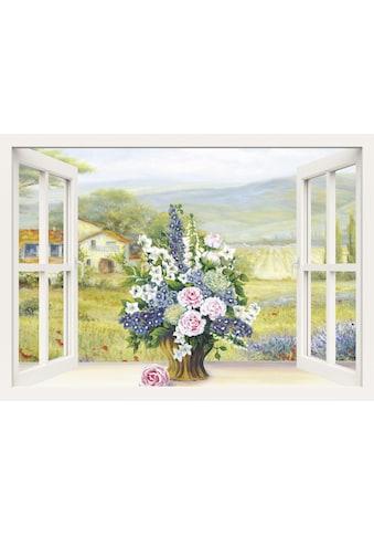 Home affaire Leinwandbild »Heins, A.: Blumenbouquet am weißen Fenster«, 100/70 cm kaufen