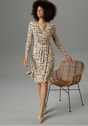Aniston SELECTED Jerseykleid, mit Schmuckelement am Wickel-Ausschnitt - NEUE KOLLEKTION kaufen