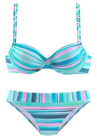 Venice Beach Bügel-Bikini, in gestreifter Piqué-Qualität kaufen