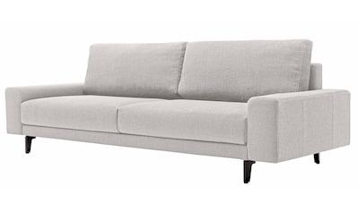 hülsta sofa 3-Sitzer »hs.450«, wahlweise in Stoff oder Leder, mit kubischer Armlehne kaufen