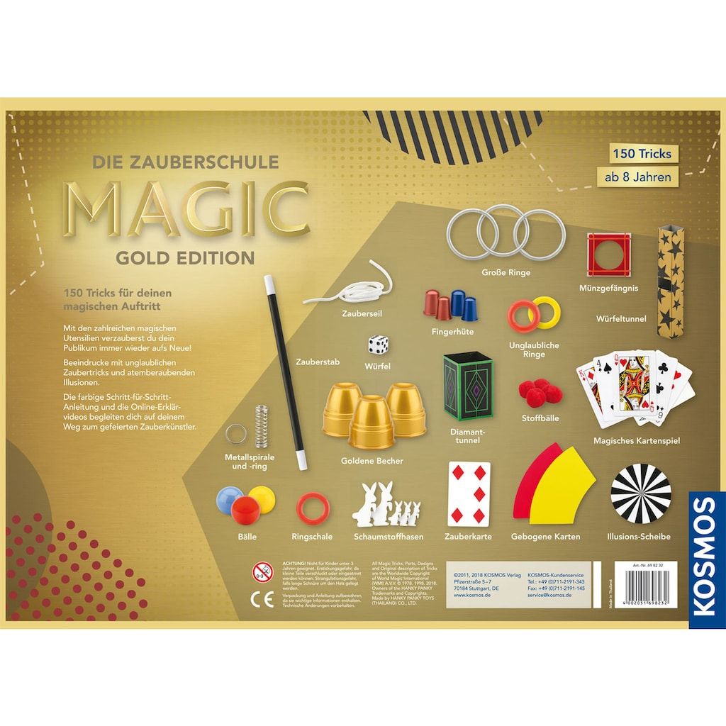Kosmos Zauberkasten »Die Zauberschule Magic Gold Edition«