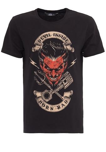 KingKerosin Print-Shirt, mit Front Print Devil Inside kaufen