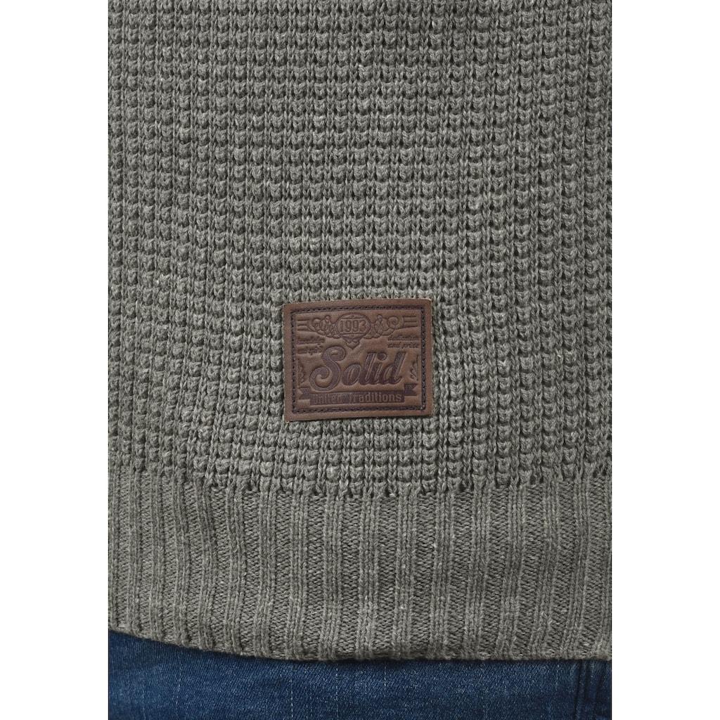 Solid Strickjacke »Tristian«, Cardigan mit Reißverschluss