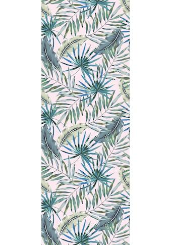 queence Vinyltapete »Tropische Blätter-Grün-Blau«, 90 x 250 cm, selbstklebend kaufen