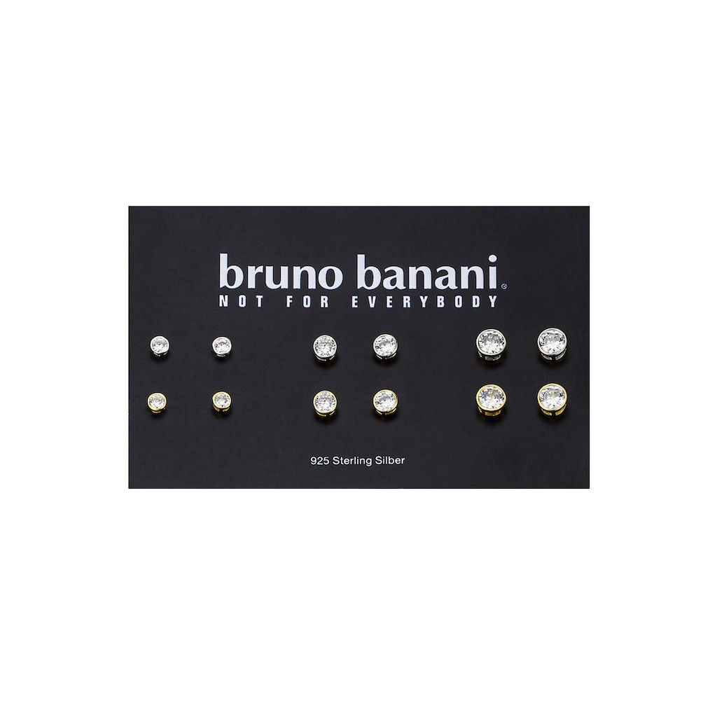 Bruno Banani Ohrstecker-Set »B00 25S/90/03«, (Set, 12 tlg.), mit Zirkonia
