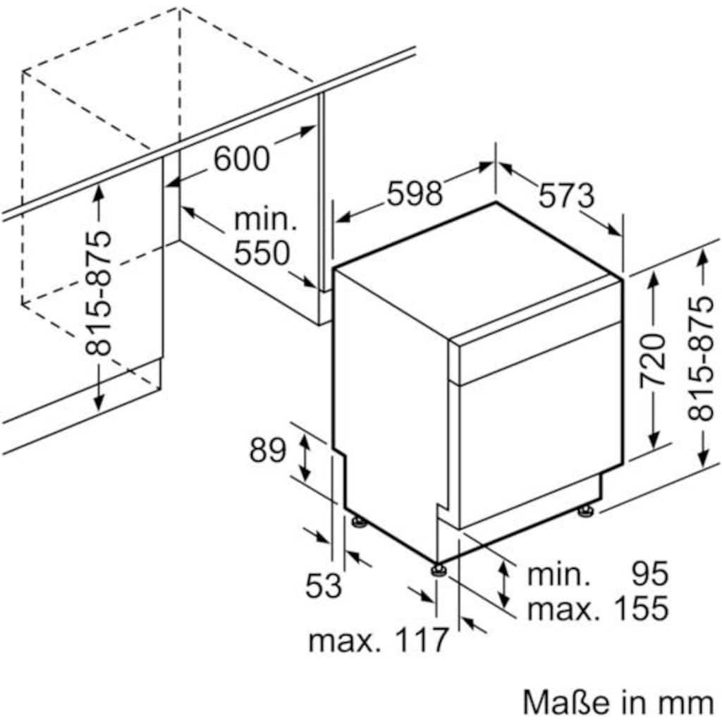SIEMENS Unterbaugeschirrspüler »iQ300 SN436S00EE«, iQ300, SN436S00EE, 13 Maßgedecke