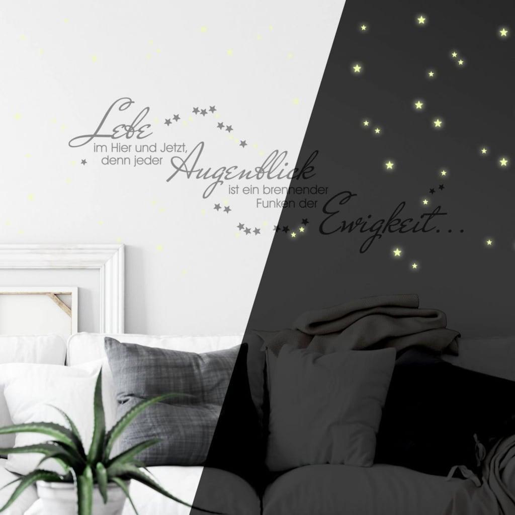 Wall-Art Wandtattoo »Leuchtspruch inkl. Leuchtsterne«