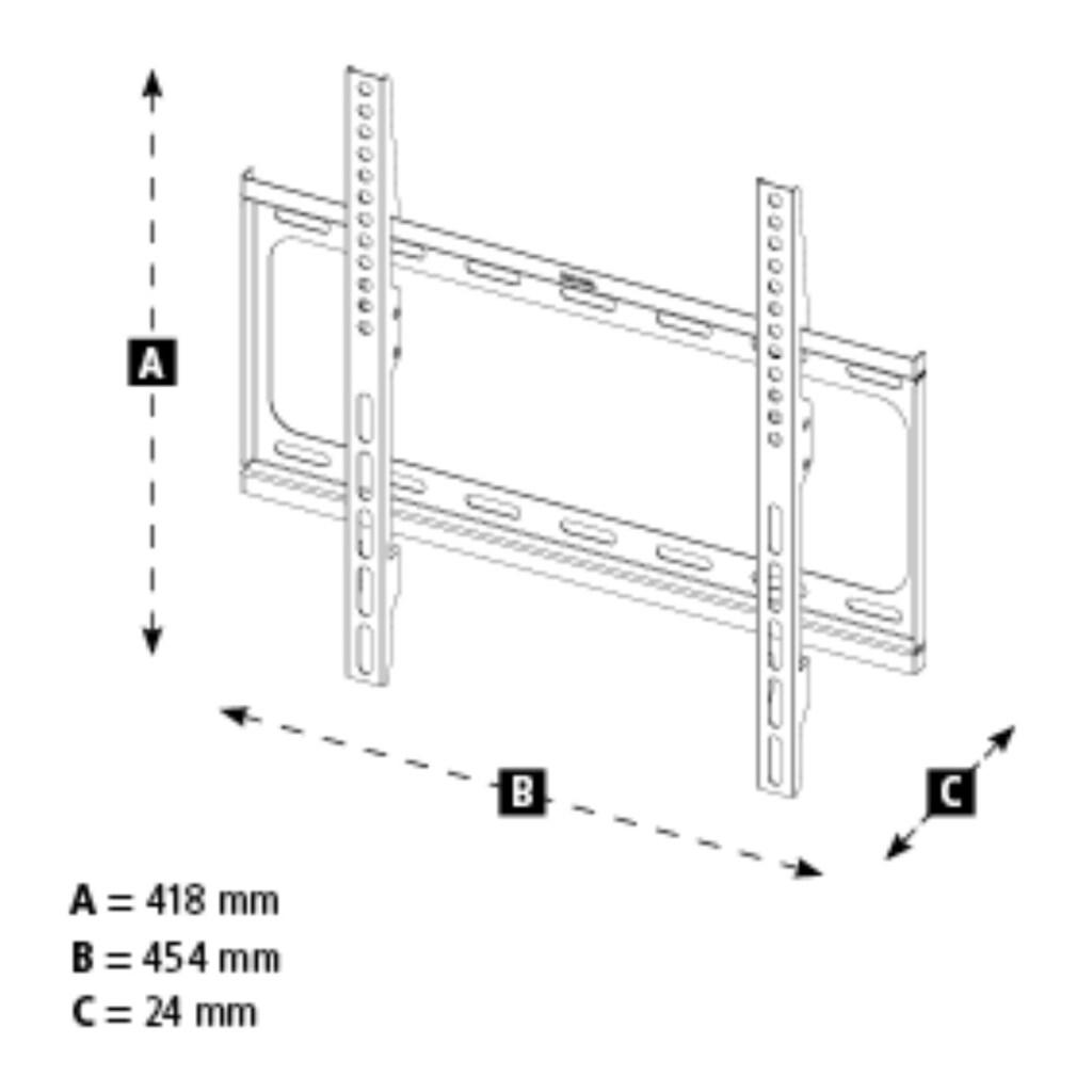 Hama TV-Wandhalterung »TV-Wandhalter«, FIX, 165 cm (65), Schwarz