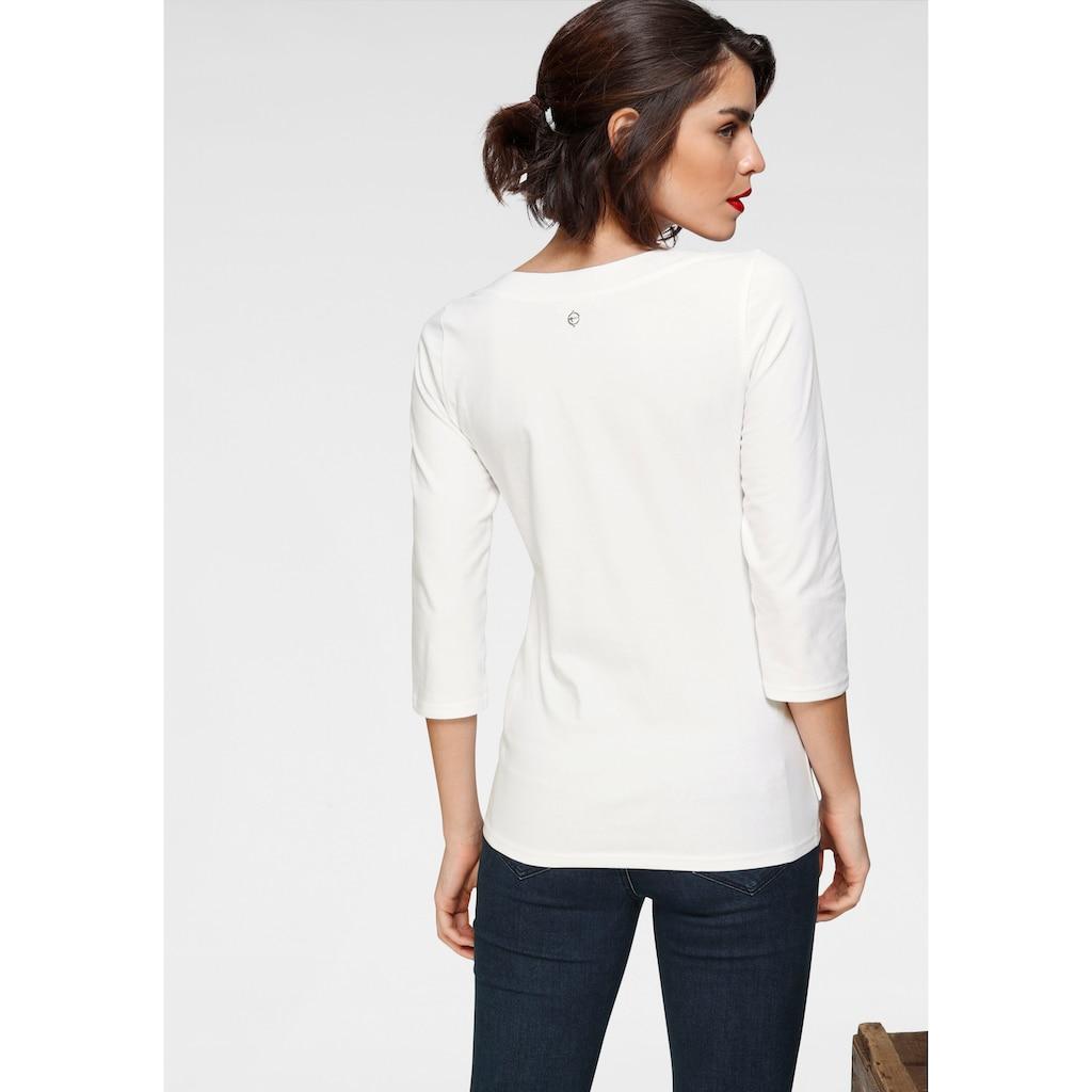 Tamaris 3/4-Arm-Shirt, mit maritimem Frontprint