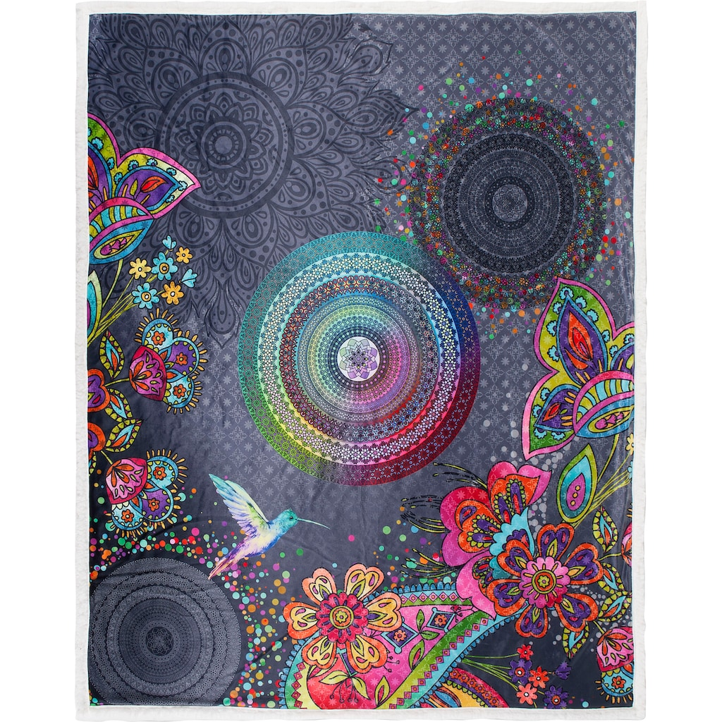 hip Plaid »Iniga«, mit Mandala und Blumen