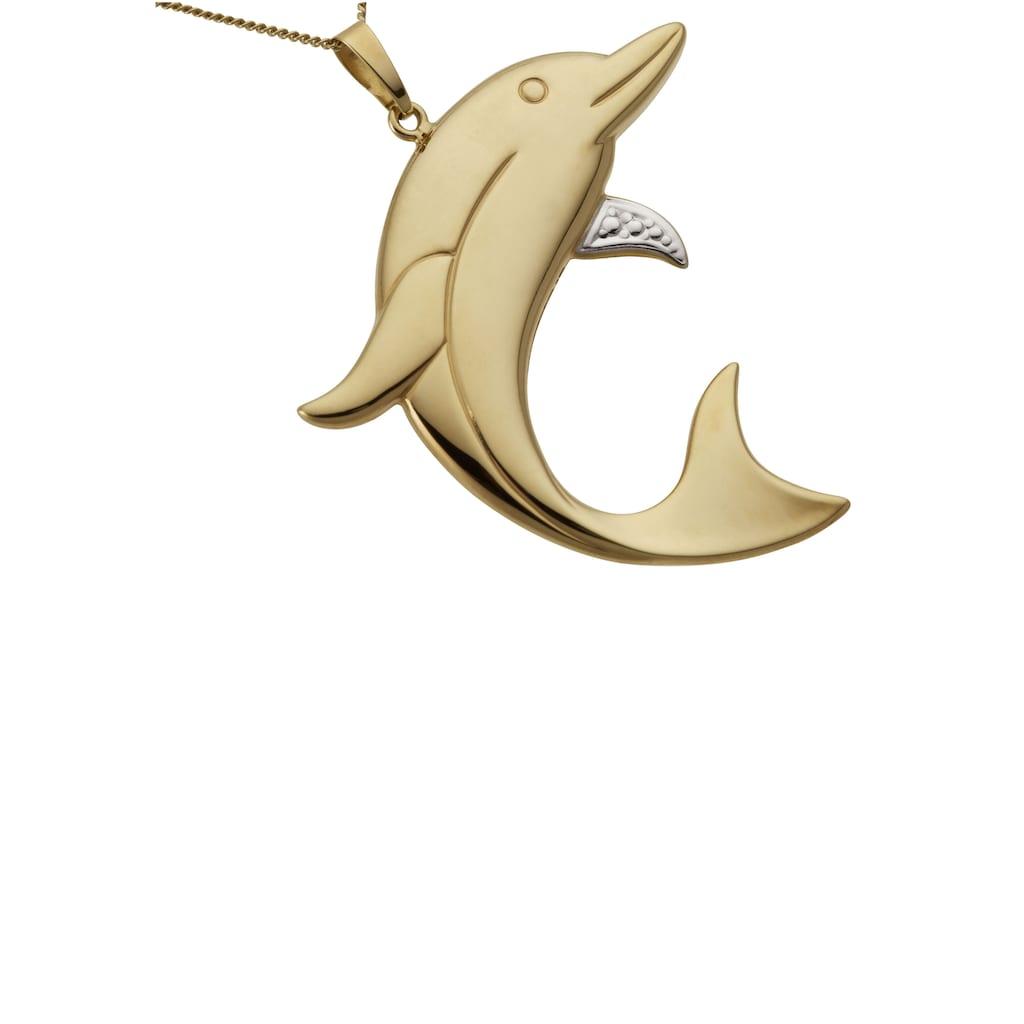 Firetti Kettenanhänger »Delfin, glanz, teilweise rhodiniert«, Made in Germany