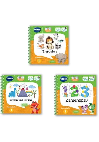 """Vtech® Buch """"MagiBook Lernstufe 1  -  Tierbabys, Formen und Farben, Zahlenspaß"""", 3 - tl. Set kaufen"""