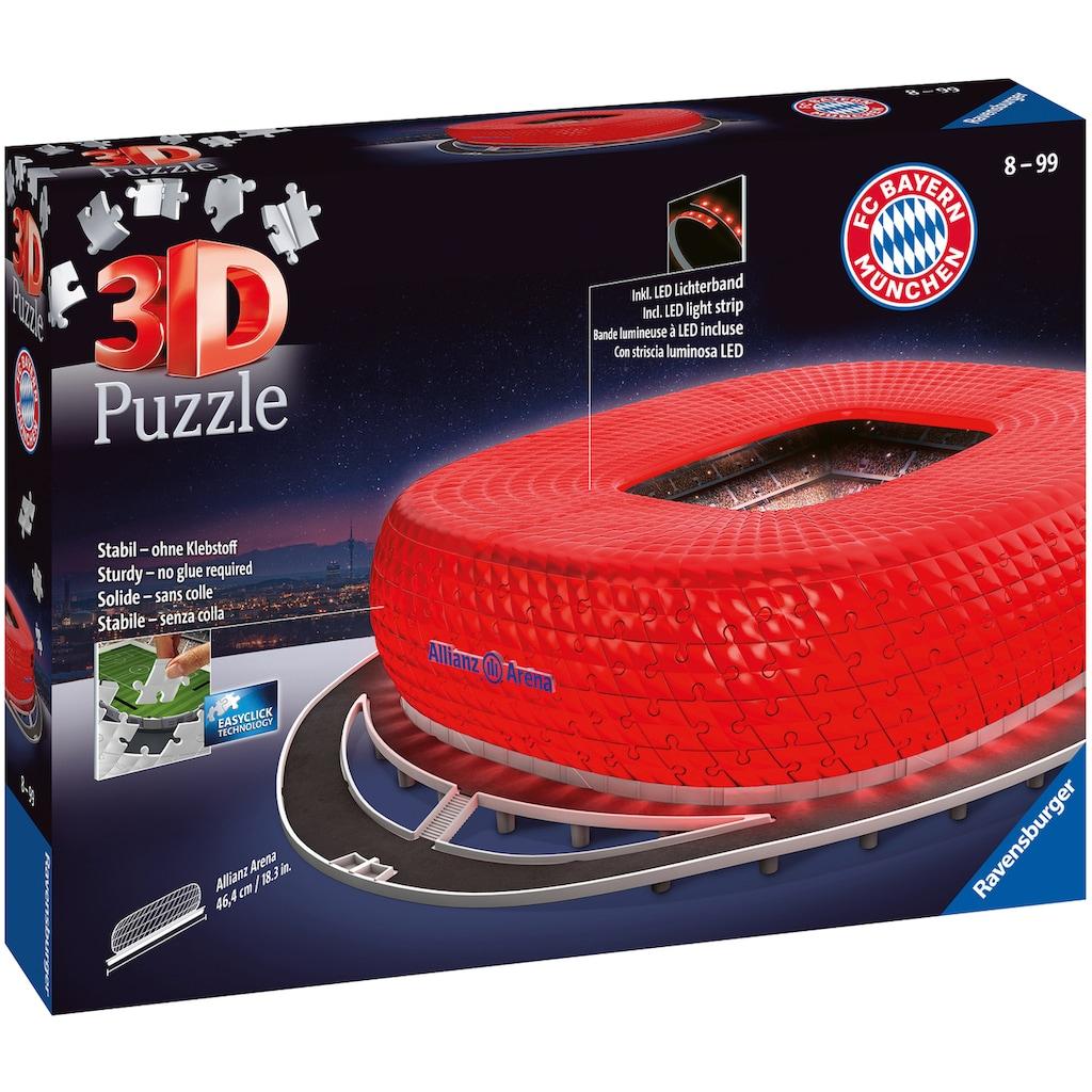 Ravensburger 3D-Puzzle »Allianz Arena Night Edition«, Made in Europe, FSC® - schützt Wald - weltweit