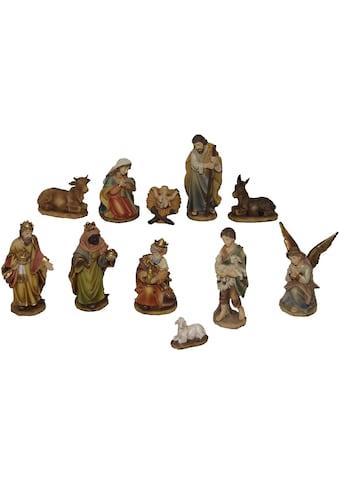 Alfred Kolbe Krippenfigur »Krippenfiguren, Höhe 11 cm in Holzkiste« (Set, 11 Stück) kaufen